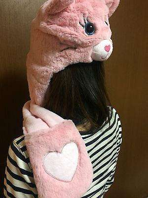 Cute Pink Kitty Hat with Gloves / Scarf sajapansales