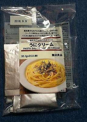Sea Urchin Cream Pasta Sauce Packets 70.2g from Muji Japan - for 2