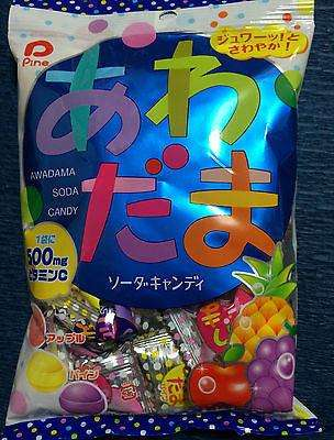 Awadama Fizzy Fruit Soda Candy - Apple Grape Pineapple - Japanese Sweets sajapansales