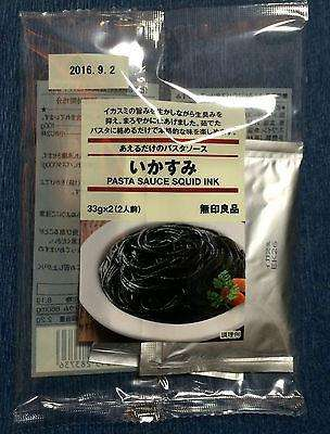 Squid Ink Pasta Sauce Packets 70.2g from Muji Japan - for 2