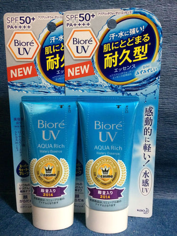 Kao Biore UV SPF50+ AQUA Rich Sunscreen Cream Made In Japan - 2 bottles sajapansales