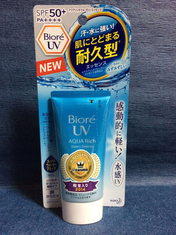 Biore UV SPF50+ AQUA Rich Sunscreen Cream Made In Japan by Kao sajapansales