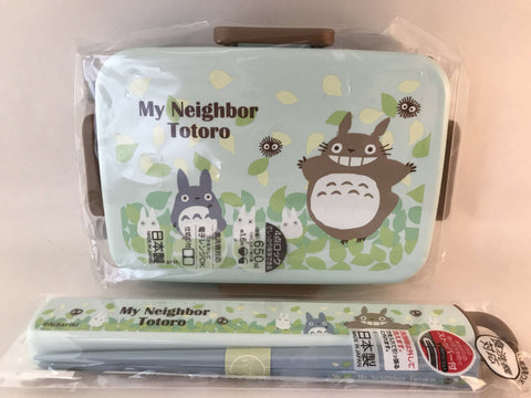 Totoro 650ml Japanese Lunchbox & Chopsticks w/ case - Studio Ghibli - made in Japan