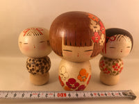 Kokeshi - 3 x Japanese dolls by Isamu