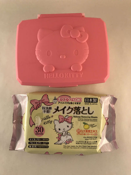 Hello Kitty Case + Wet Wipes - Sanrio Japan sajapansales