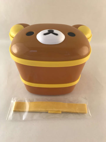 Rilakkuma Lunch Box - 2 story Lunch Box with Chopsticks - Sanrio Japan