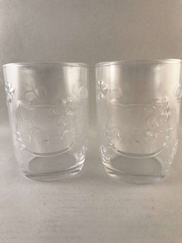 Hello Kitty Glass Cups x 2 - Sanrio - MADE IN JAPAN sajapansales