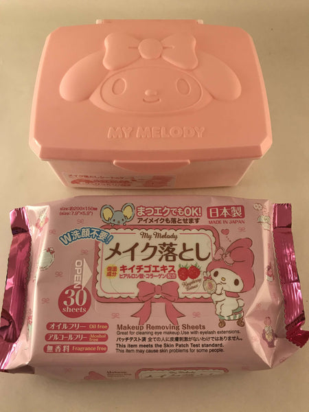 My Melody Case + Wet Wipes - Sanrio Japan