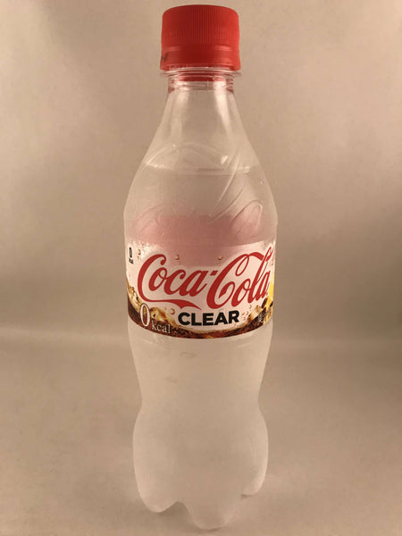Clear Coke - 500ml bottle of Japanese Clear Coca Cola Drink sajapansales