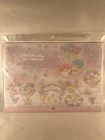 Little Twin Stars 2019 Wall Calendar - Sanrio Japan / Japanese Anime