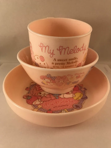 My Melody 3 Piece Dining Set (cup bowl plate)