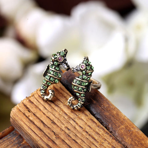 Colorful Seahorse Finger Ring