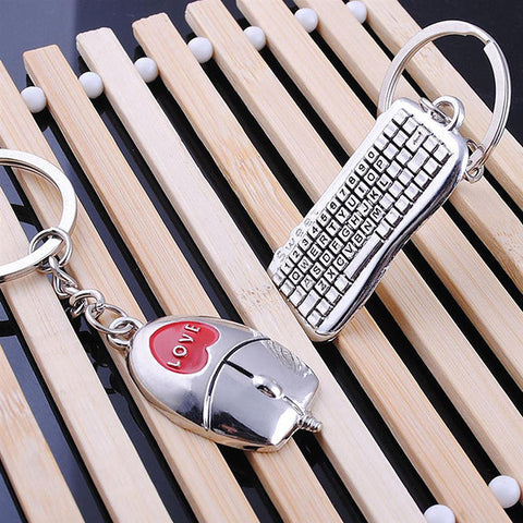 Keyboard Mouse Type Keychain
