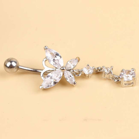 Stainless Steel Butterfly Belly Button