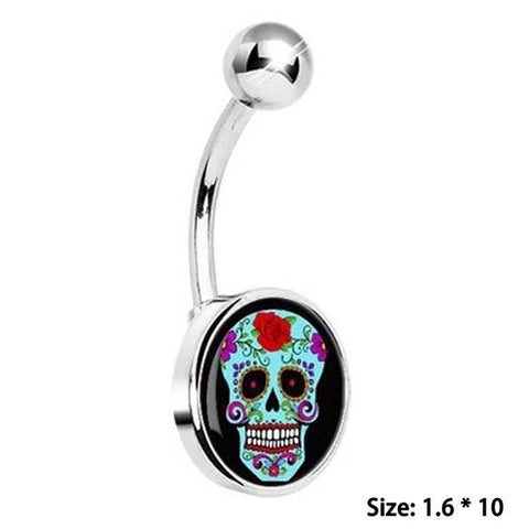 Cool Skeleton Belly Button Ring