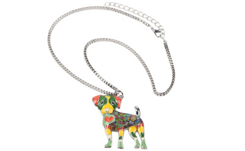 Jack Russell Dog Choker Necklace