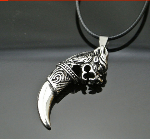 Antique Wolf Tooth Pendant
