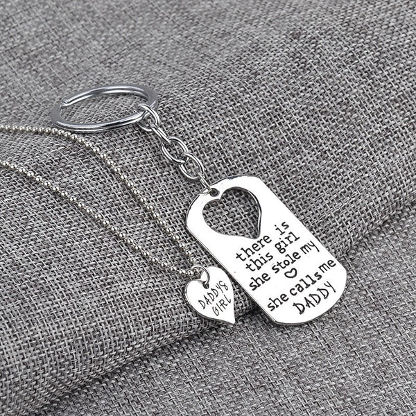 Daddy's Girl Necklace & Keychain Set