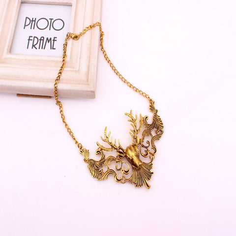 Antique Collection Deer Chain Necklace