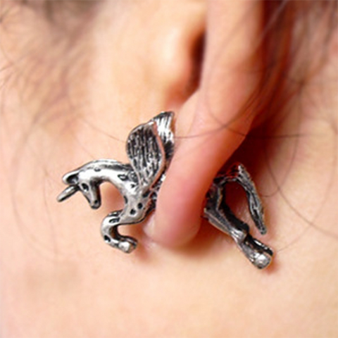 Unicorn Gauge Earrings