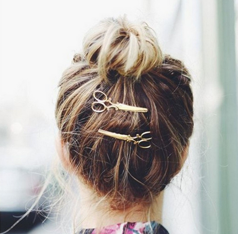Scissor Shaped Hair Pin
