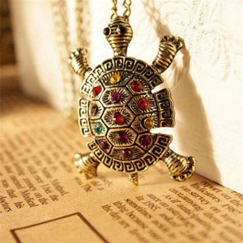 Antique Tortoise Pendant Necklace
