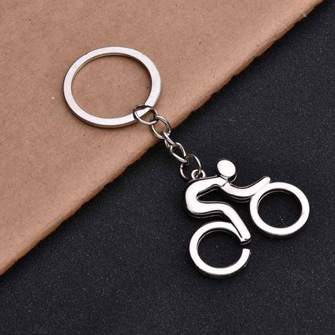 Bicycle shaped metal keychain