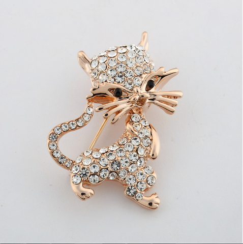 Fashion Mini Smiley Cat Brooch
