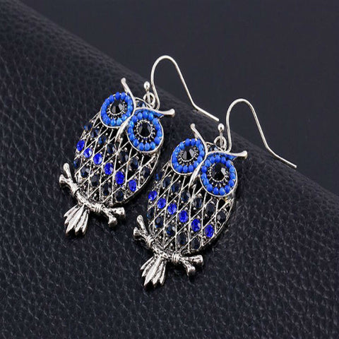 Colorful Owl Beads Earrings