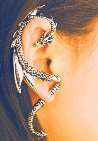 Antique Style Dragon Ear Cuff