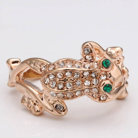 Rose Gold Plated Frog Rings