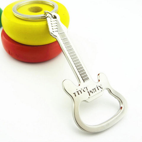 Guitar Pattern bottle opener Keychain