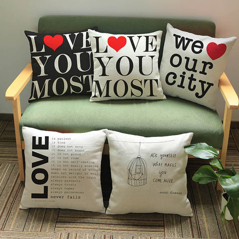 Heart Shaped Valentine Pillow Cover
