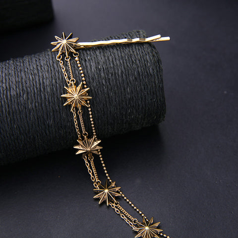 Antique Gold Stars Hair Jewelry