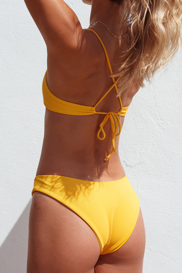 MALY bottoms - Ribbed Yellow