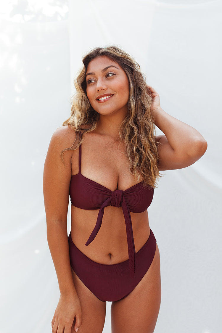 NARY bottoms - Ribbed Plum