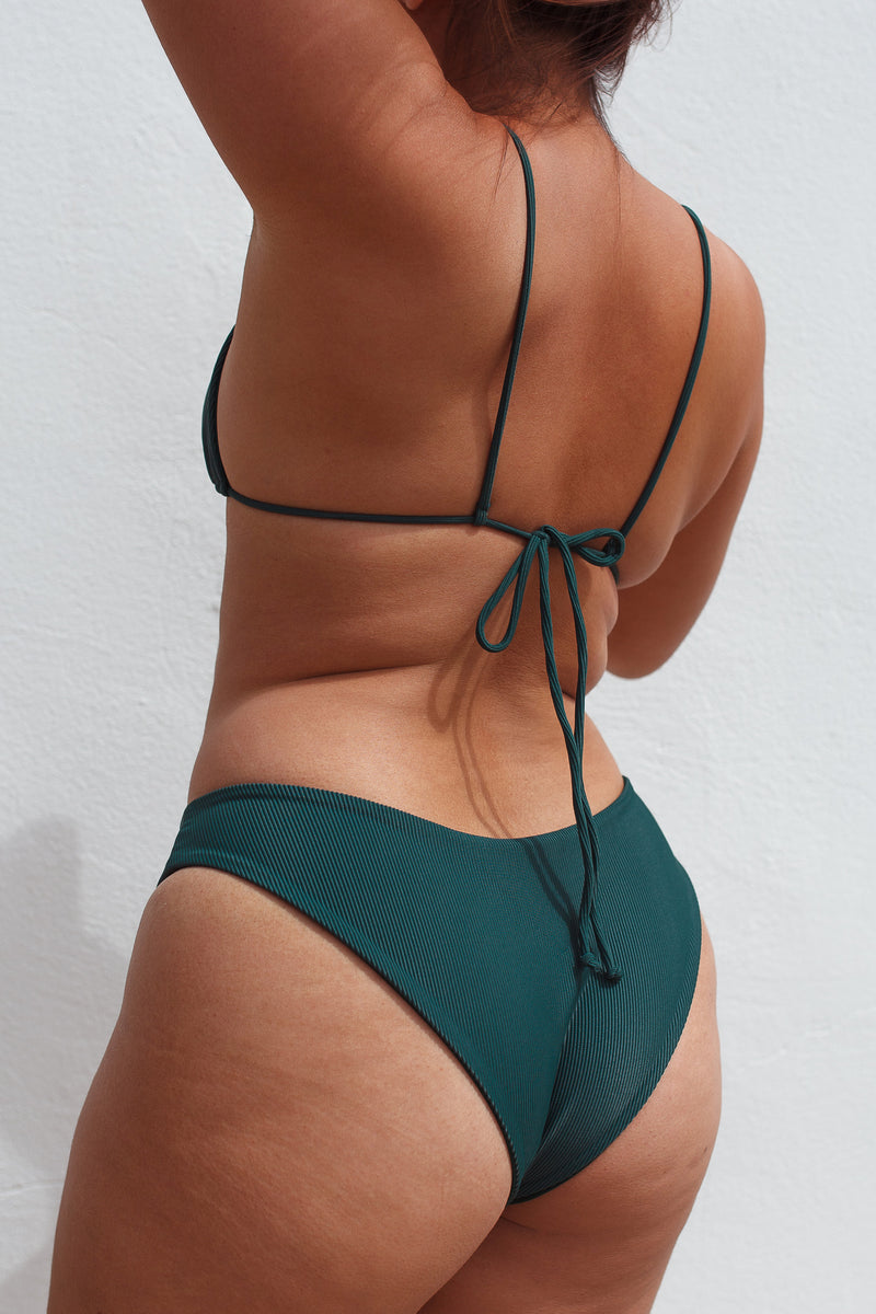 MALY bottoms - Ribbed Emerald