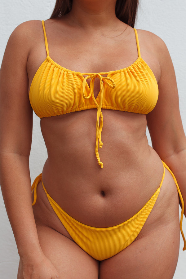 MALY top - Ribbed Yellow