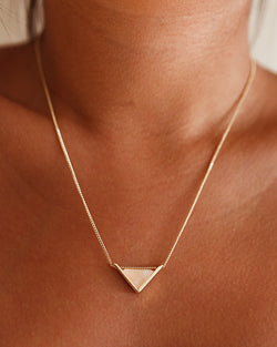 Triangle Necklace - Blush