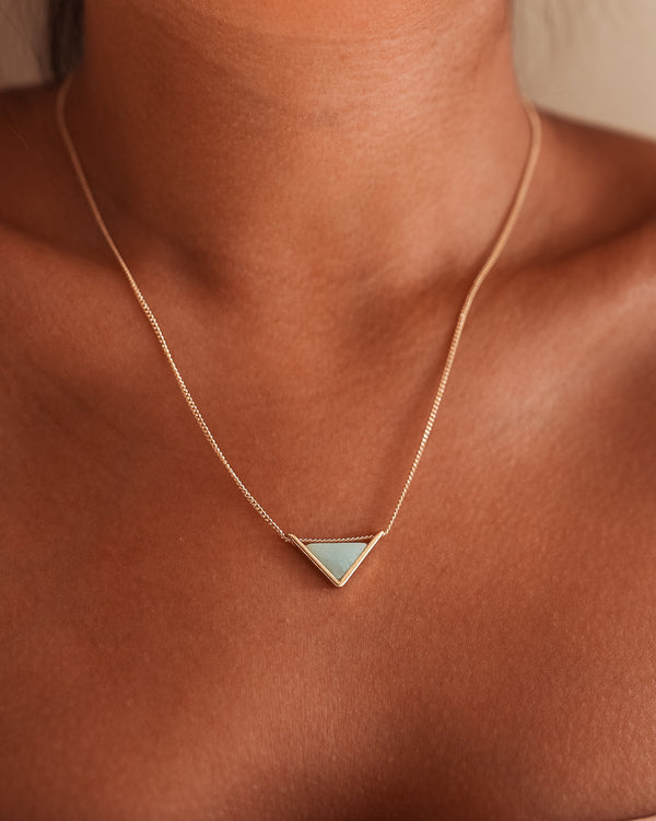 Triangle Necklace - Sea Green
