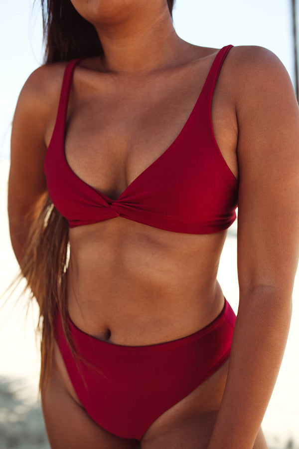 NARY bottoms - Luxe Burgundy - Serei Swim