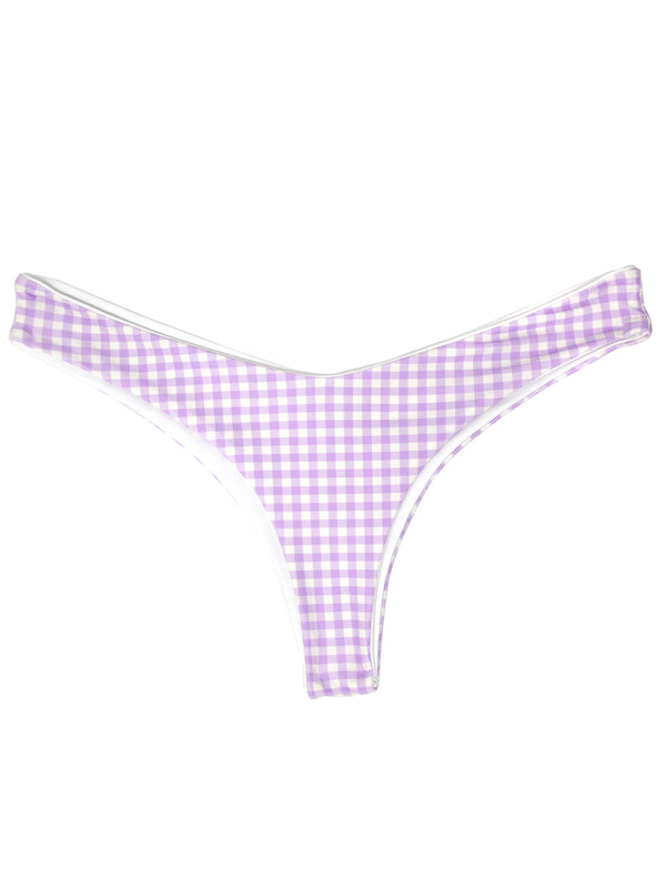 KALIYAN bottoms - Purple Gingham - Serei Swim