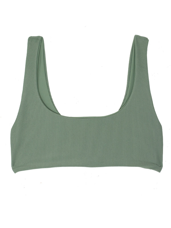 DARA top - Ribbed Sage - Serei Swim