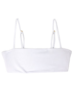 TEVVY top - Ribbed White