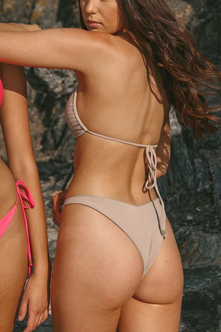SELENA bottoms - Ribbed Taupe