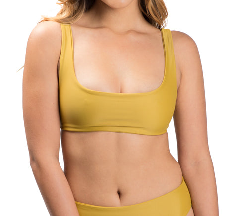 DARA top - Mustard - Serei Swim