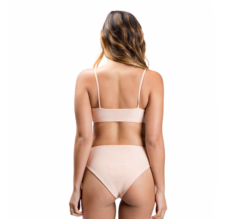 TEVVY top - Ribbed Melon - Serei Swim