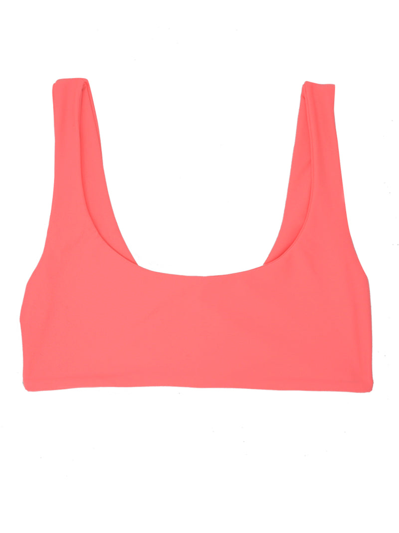 DARA Scoop Neck Bikini Top - Coral - Serei Swim