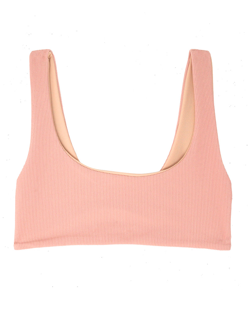 DARA Scoop Neck Bikini - Ribbed Blush - Serei Swim