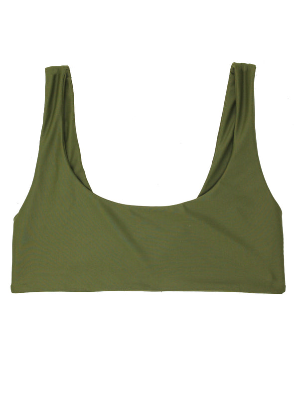DARA Scoop Neck Bikini - Olive